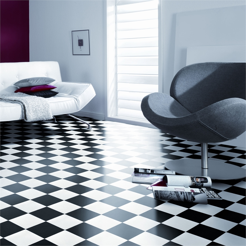 Flooring: Black & White Vinyl Flooring
